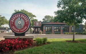 bagger daves restaurant branding outdoor sign Ideation Royal Oak