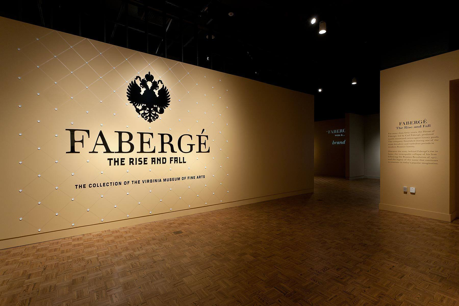 Exhibit graphics in the spirit of Faberge