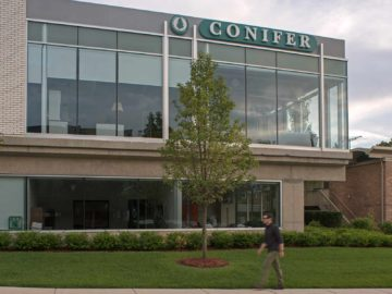 exterior sign for conifer in birmingham