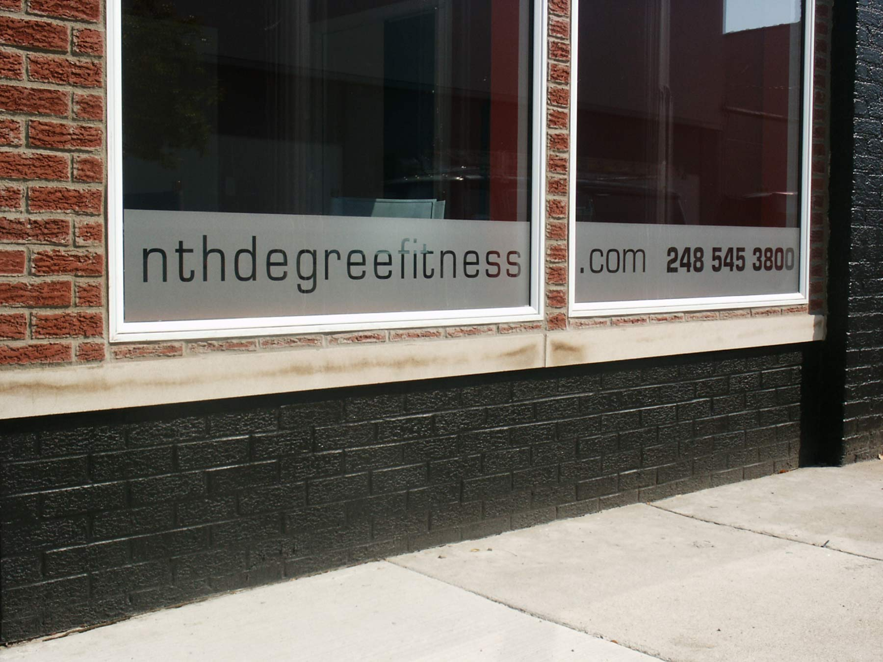 exterior sign for nth degree fitness in ferndale