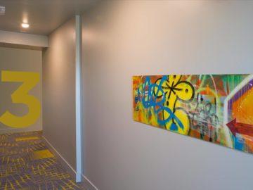 Midtown Apartments environmental graphic in Lansing
