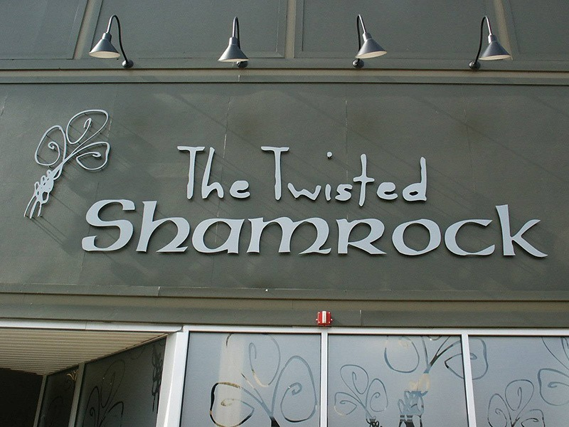 exterior sign for the twisted shamrock in ferndale
