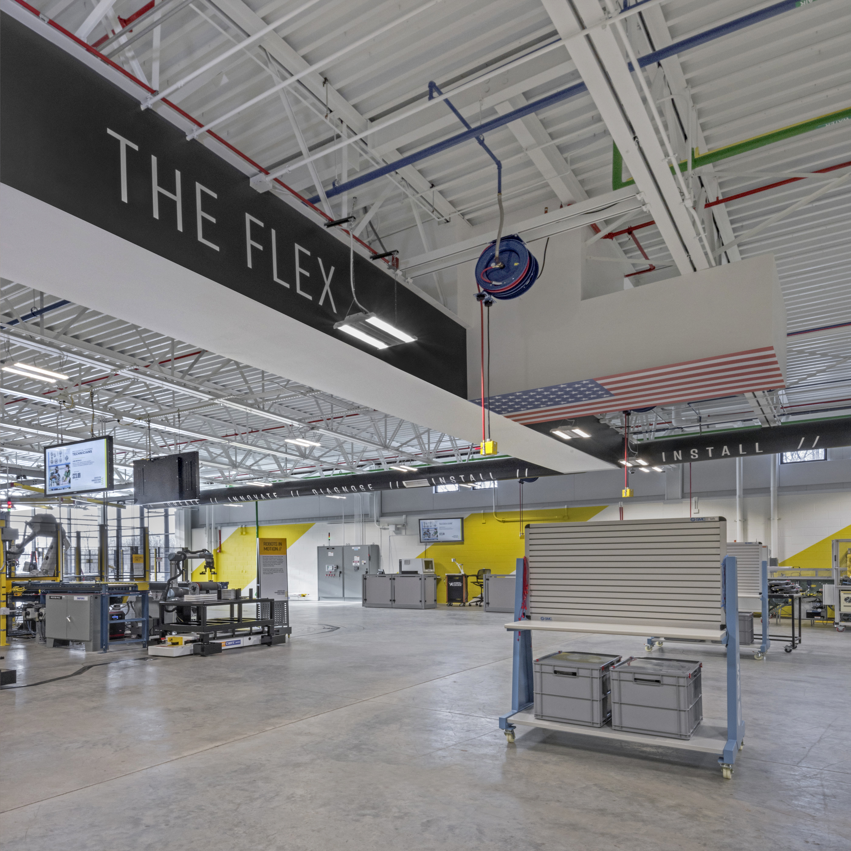 The Flex branded space