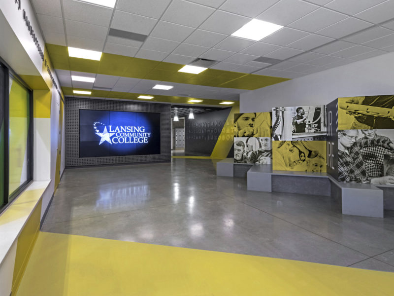 Lansing Community College branded space