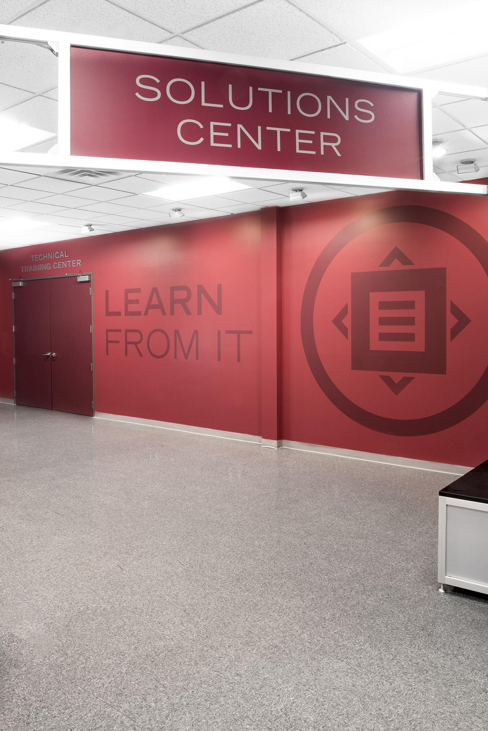 Solutions Center workspace design